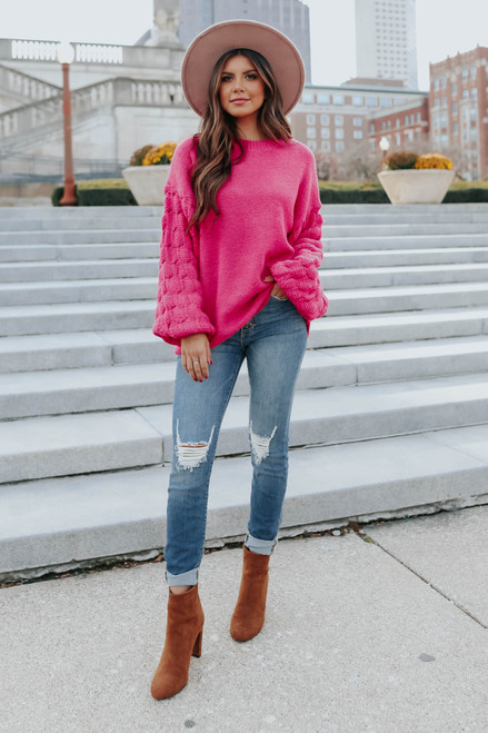 Double Dare Pom Pink Sweater