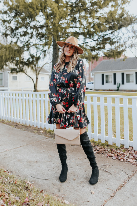 Locklyn Floral Flounce Dress