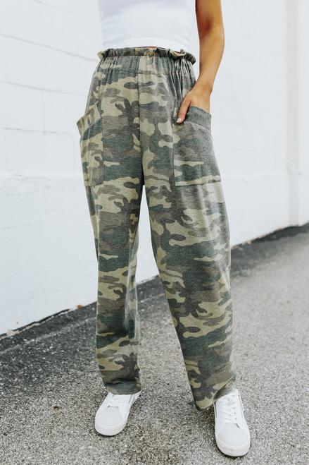 Paperbag Camo Lounge Pants