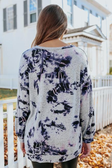 V-Neck Galaxy Tie Dye Pullover