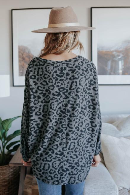 Wild Pursuit Brushed Leopard Pullover