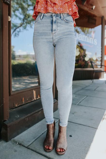 Free People Montana Sunday Blue Skinny Jeans