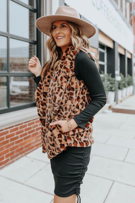 BB Dakota Purr Crazy Leopard Vest