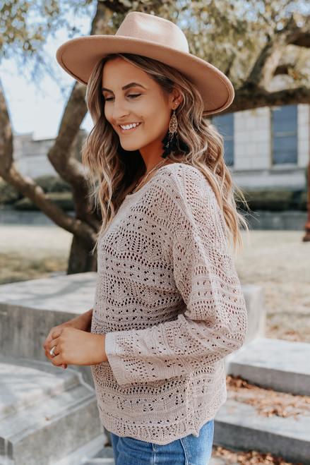 Whimsical Crochet Scalloped Sweater