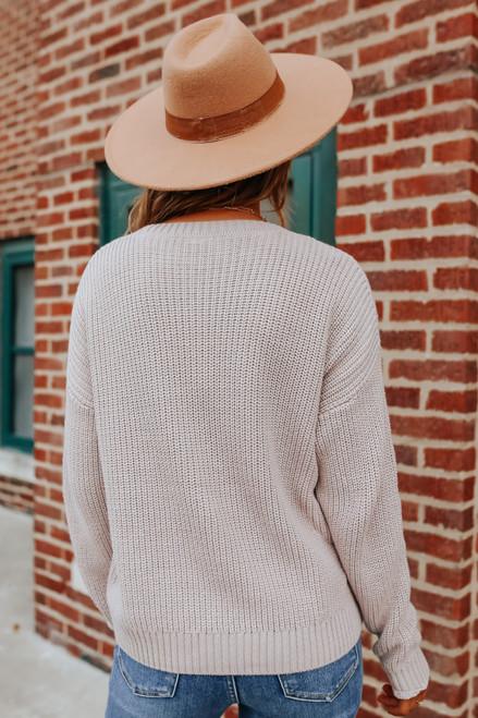 Lorelei Mixed Texture Chevron Sweater