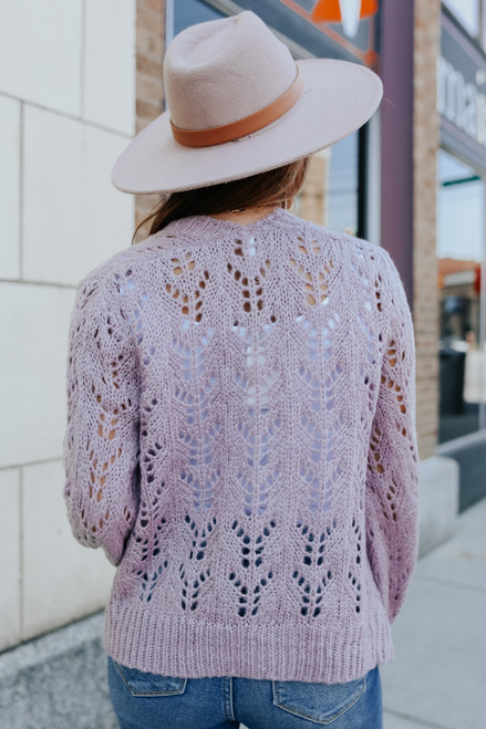 Hanna Open Knit Crochet Cardigan