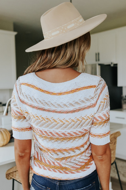 Short Sleeve Button Down Printed Cardigan