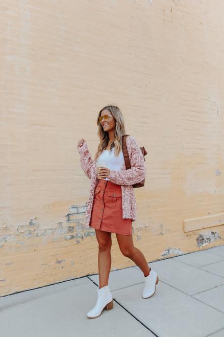 True Colors Pink Confetti Cardigan