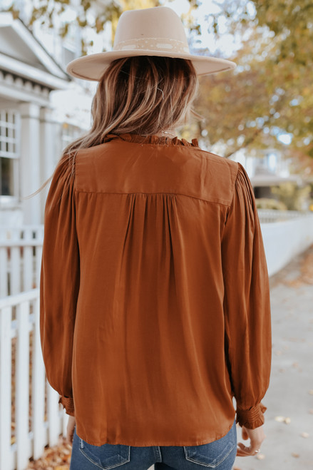 Button Down Satin Blouse