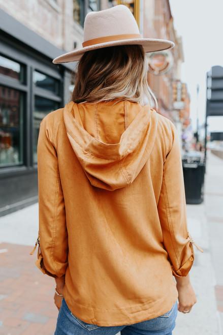 Roll Tab Copper Hooded Jacket