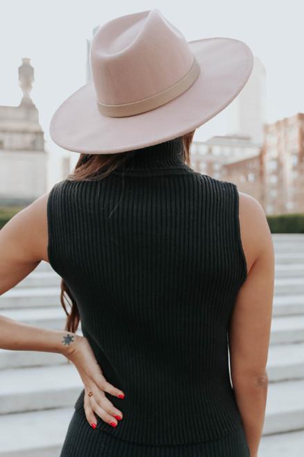Monroe Sleeveless Black Turtleneck Sweater