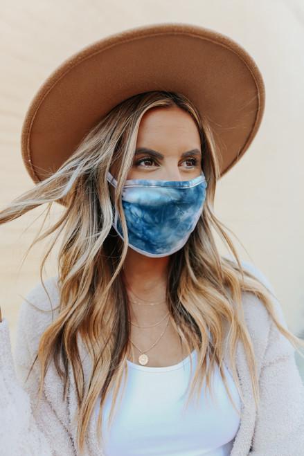 Sunset Coast Tie Dye Face Mask