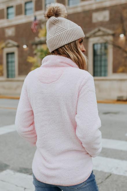 Secret Crush Half Zip Sherpa Pullover