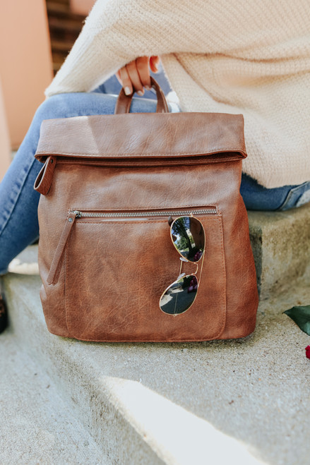 Lennon Convertible Cognac Backpack
