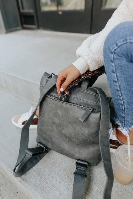 Lennon Convertible Grey Backpack