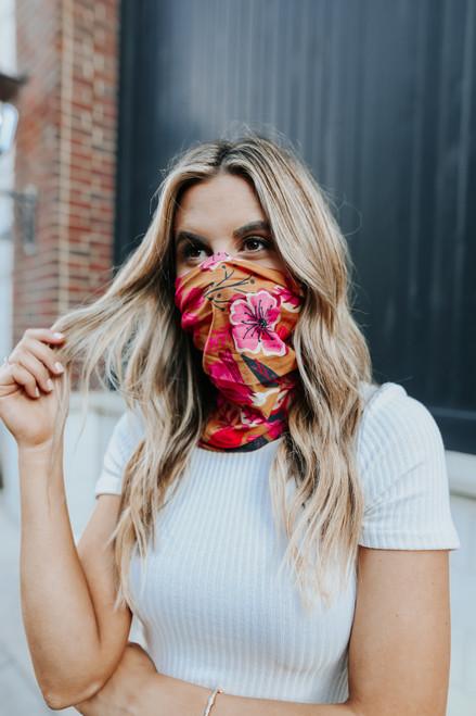 Fall Breeze Mustard Floral Headband