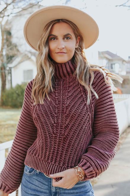 Free People Sweetheart Garnet Sweater