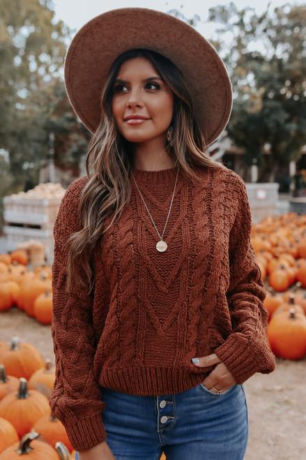 Hazelnut Ridge Cable Sweater