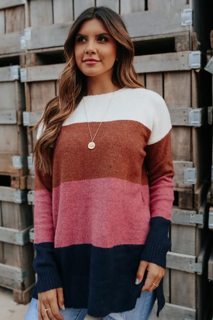 Love Struck Colorblock Sweater