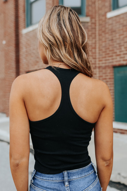 Free People Hayley Racerback Black Brami