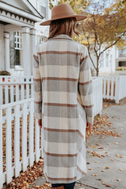 Maple Grove Long Plaid Coat