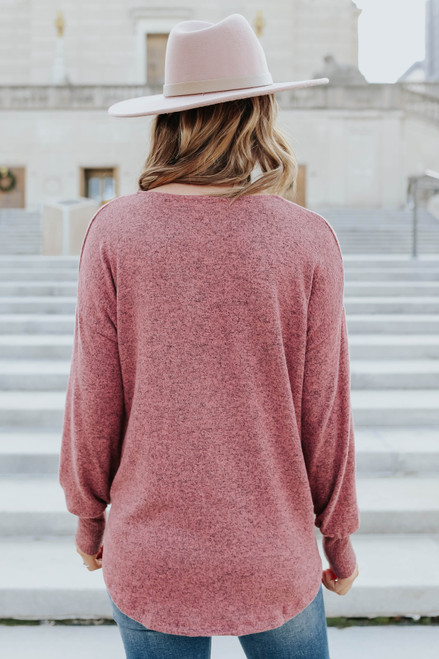 V-Neck Soft Brushed Pullover