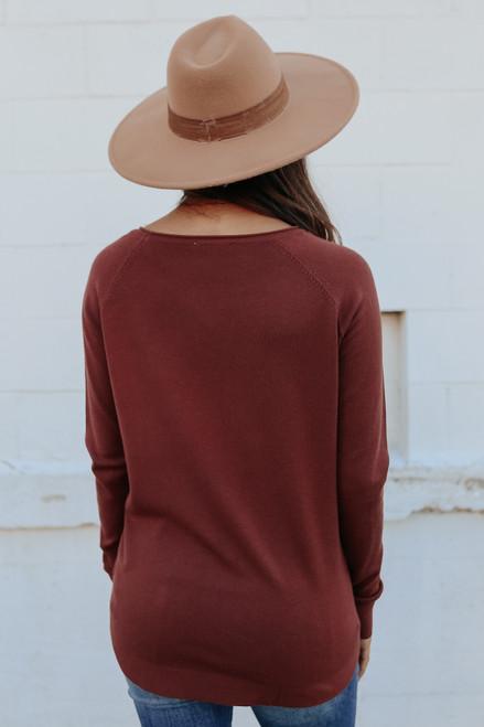 Lightweight Boatneck Chocolate Sweater