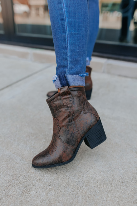 Chinese Laundry Unite Brown Western Booties