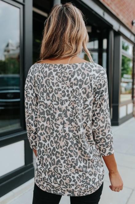 Selina 3/4 Dolman Leopard Top