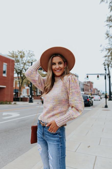Puff Sleeve Funfetti Sweater