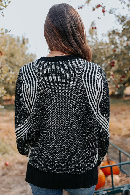 Two Tone Textured Sweater