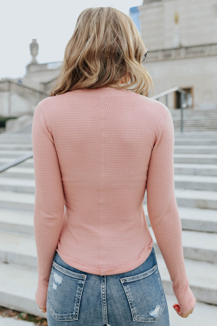 Free People One of the Girls Rose Henley