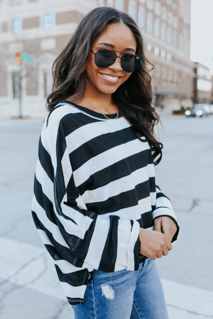 Free People East West Striped Tee