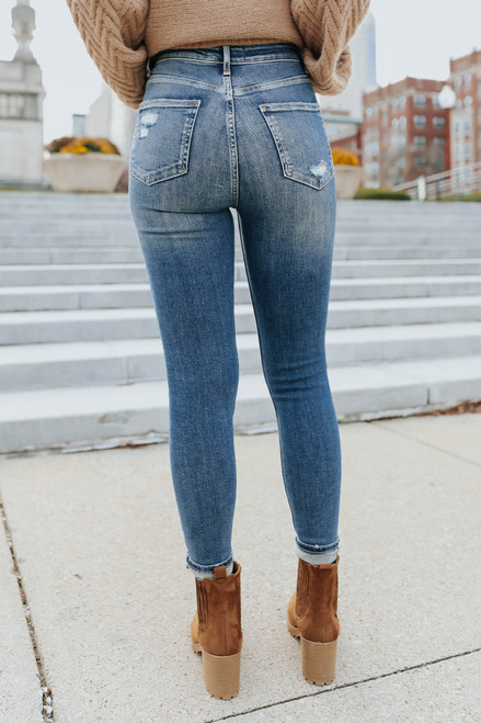 Free People Sabrina Indigo Super Skinny Jeans