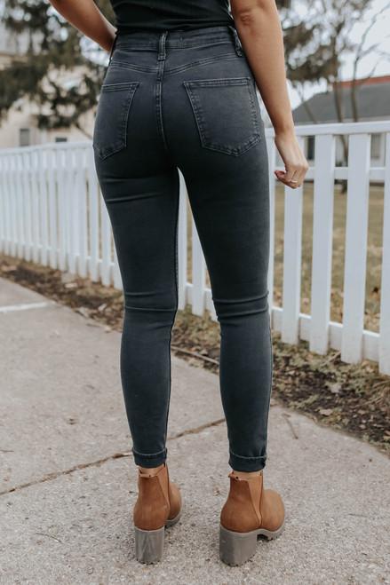 Free People Sabrina Black Super Skinny Jeans