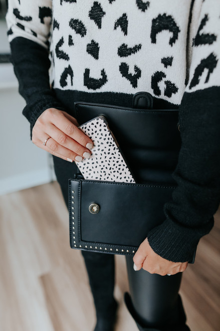 Park Place Studded Black Crossbody Bag
