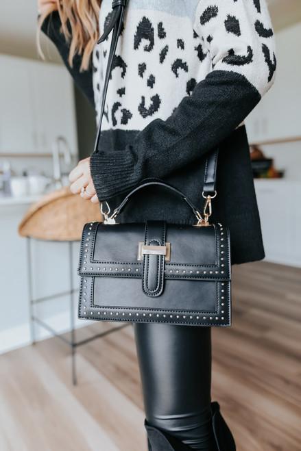 Park Place Studded Black Crossbody Bag