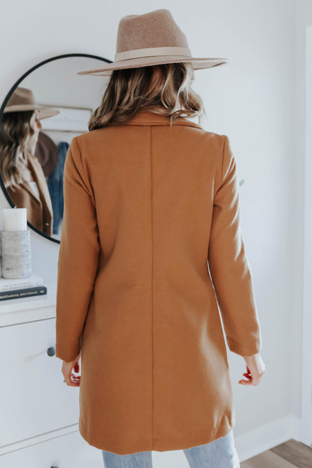 Westwood Button Front Camel Coat