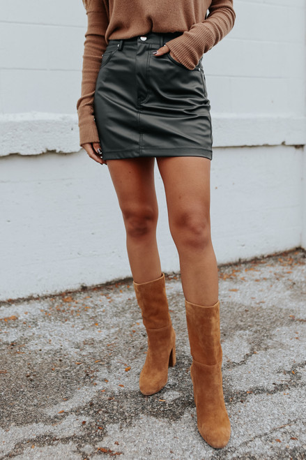 Rebel Faux Leather Skirt