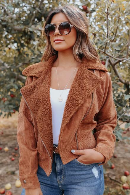 Arcadia Faux Fur Corduroy Jacket