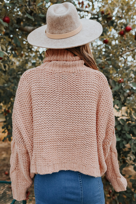 Bellevue Turtleneck Cable Sweater