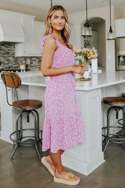 BB Dakota Petal Heart Midi Dress