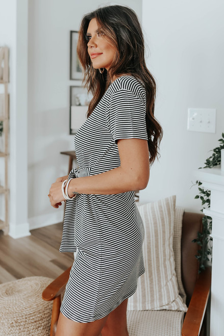 BB Dakota Desire Lines Striped Dress