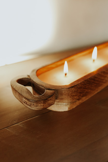 French Vanilla 3-Wick Wooden Candle