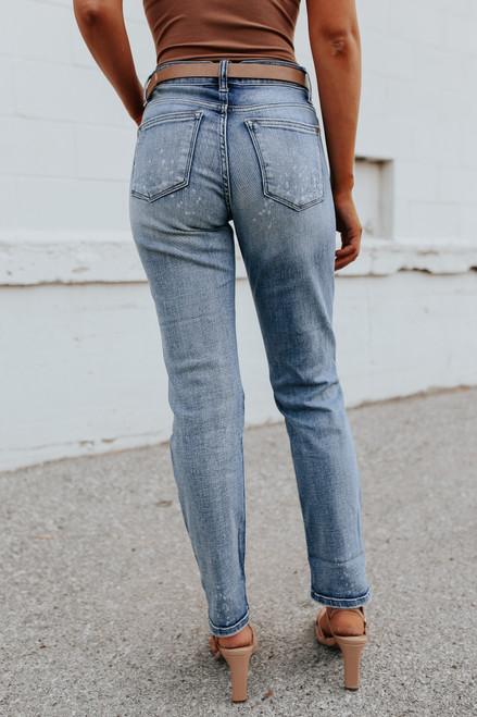 Love Shack Medium Wash Boyfriend Jeans