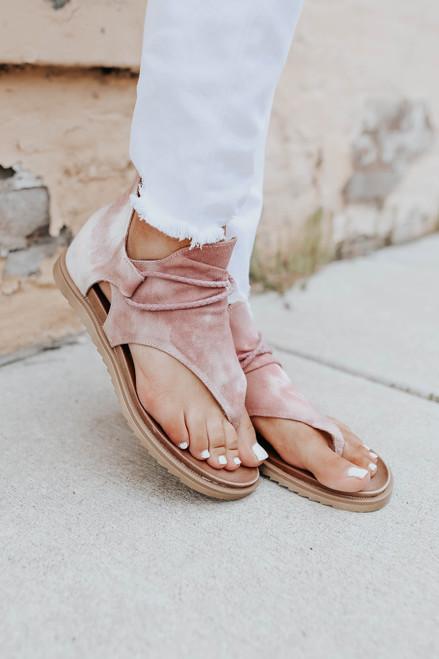 Very G Dusk Blush Tie Dye Sandals