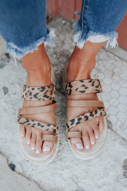 Very G Groove Leopard Strappy Sandals