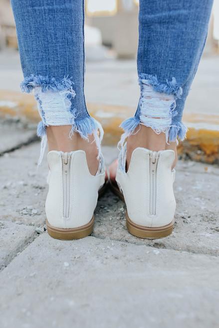 Very G Dakota Cream Stripe Sandals