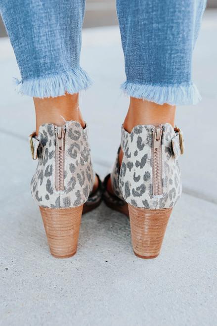 Very G Adira Leopard Peep Toe Wedges