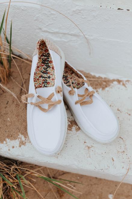 Gypsy Jazz Dolly White Boat Shoes